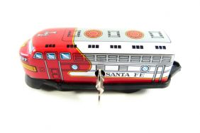 Wind up Red Train Small Tin Toy Train from Japan