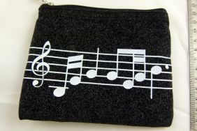 Music Themed Zipper Pouch Soft Pouch Musical Score Sheet Design