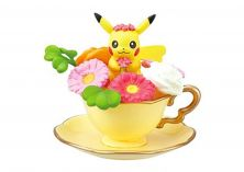 Re-Ment Pokemon Floral Cup Collections 2 Figure~Pikachu Tea Cup and saucer