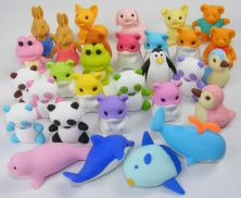 Iwako Japanese Puzzle Eraser ANIMAL Overstock (Pack of 10)